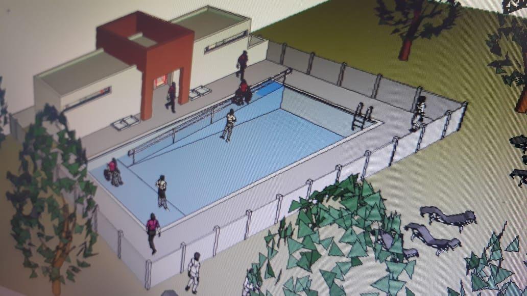 Pileta de natación en Mechongué